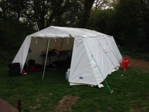 Photograoph of the Mess Tent on Camp